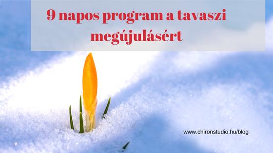 9 napos program a tavaszi megújulásért